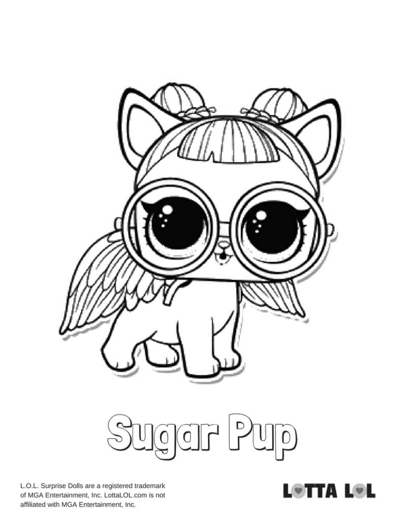 Sugar pup lol surprise doll coloring page lotta lol
