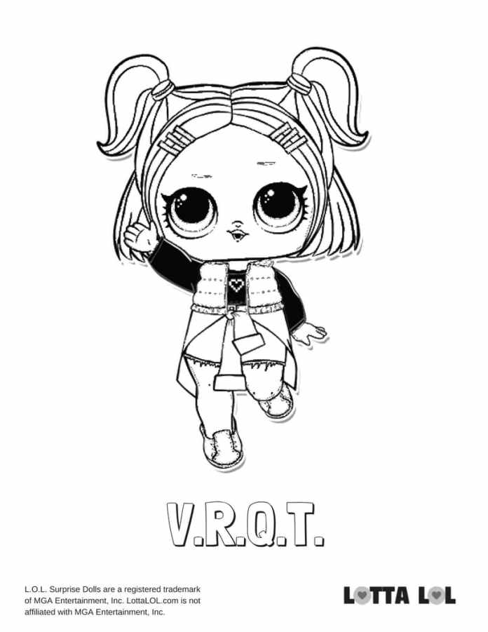 dusk lol doll coloring pages | VRQT LOL Surprise Doll Coloring Page | Lotta LOL