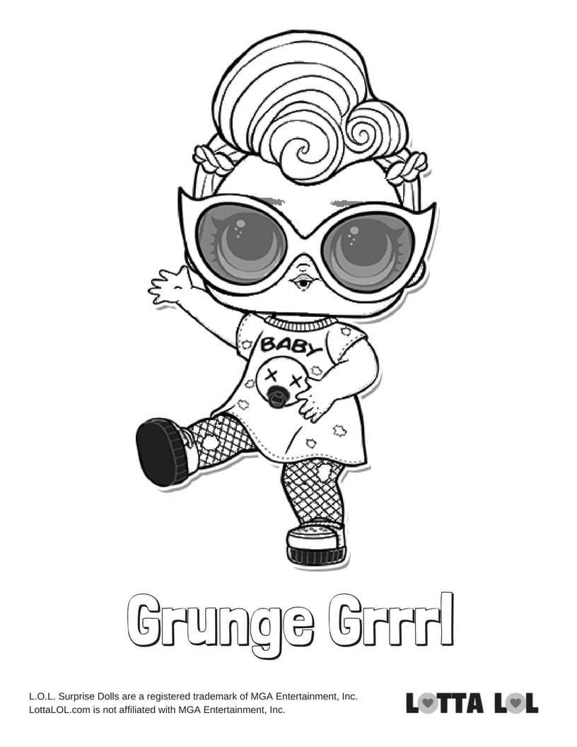 Grunge Rock Coloring Pages