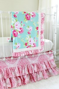 Morning Rose Blanket Bumperless Baby Bedding Set - Lottie ...