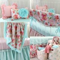Pastel Peonies Baby Bedding Set - Lottie Da Baby