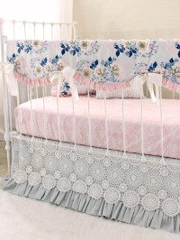 Ethereal Lullaby Rail Cover Bumperless Baby Bedding - Gray ...