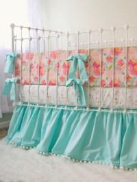 Pastel Peonies Baby Bedding Set - Lottie Da Baby - Baby ...