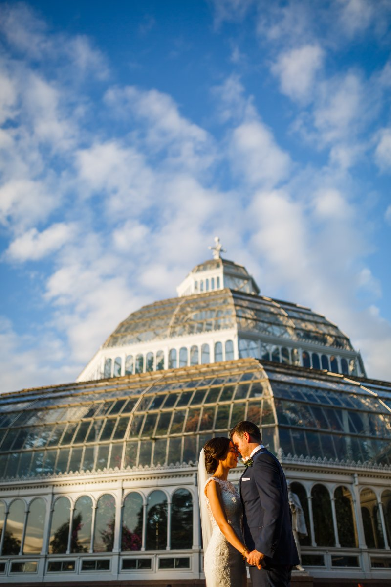 Sunset at Sefton Palm House