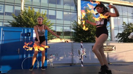 Me & Nicola Fire Fans Performance
