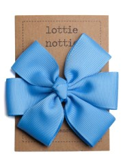 bright blue big hair bow lottie
