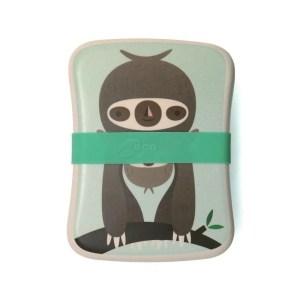 Bambus Lunchbox Faultier - Grün
