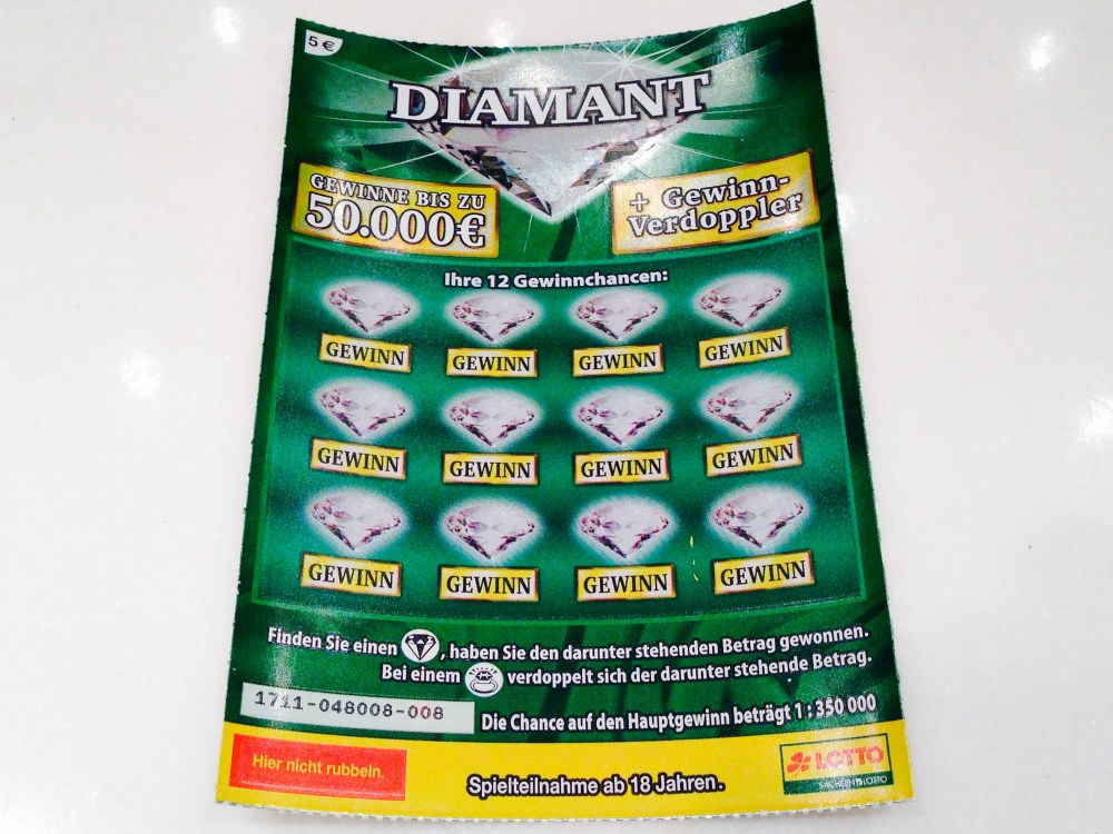 """Diamant""-Los ungeöffnet"