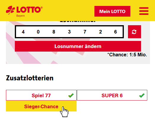 lotto sieger chance