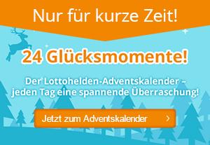 Adventskalender mit Rabatten von Lottohelden.de