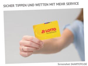 Screenshot Saartoto Saarland Kundenkarte