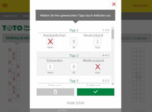 TOTO 13er Ergebniswette Lotto Schleswig Holstein Screenshot