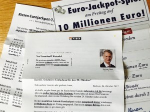 Faber Exklusive Einladung zur Jackpot-Jagd Brief