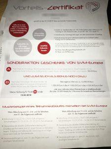 Vorteils-Zertifikat SVM-Europa