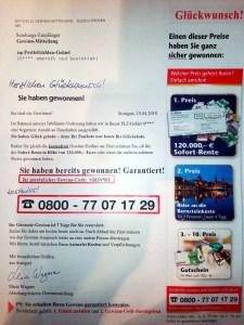 Brief von Glöckle direct GmbH