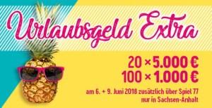 Lotto Sachsen-Anhalt Urlaubsgeld Sonderverlosung