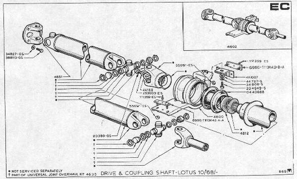 Lotus Part Diagrams