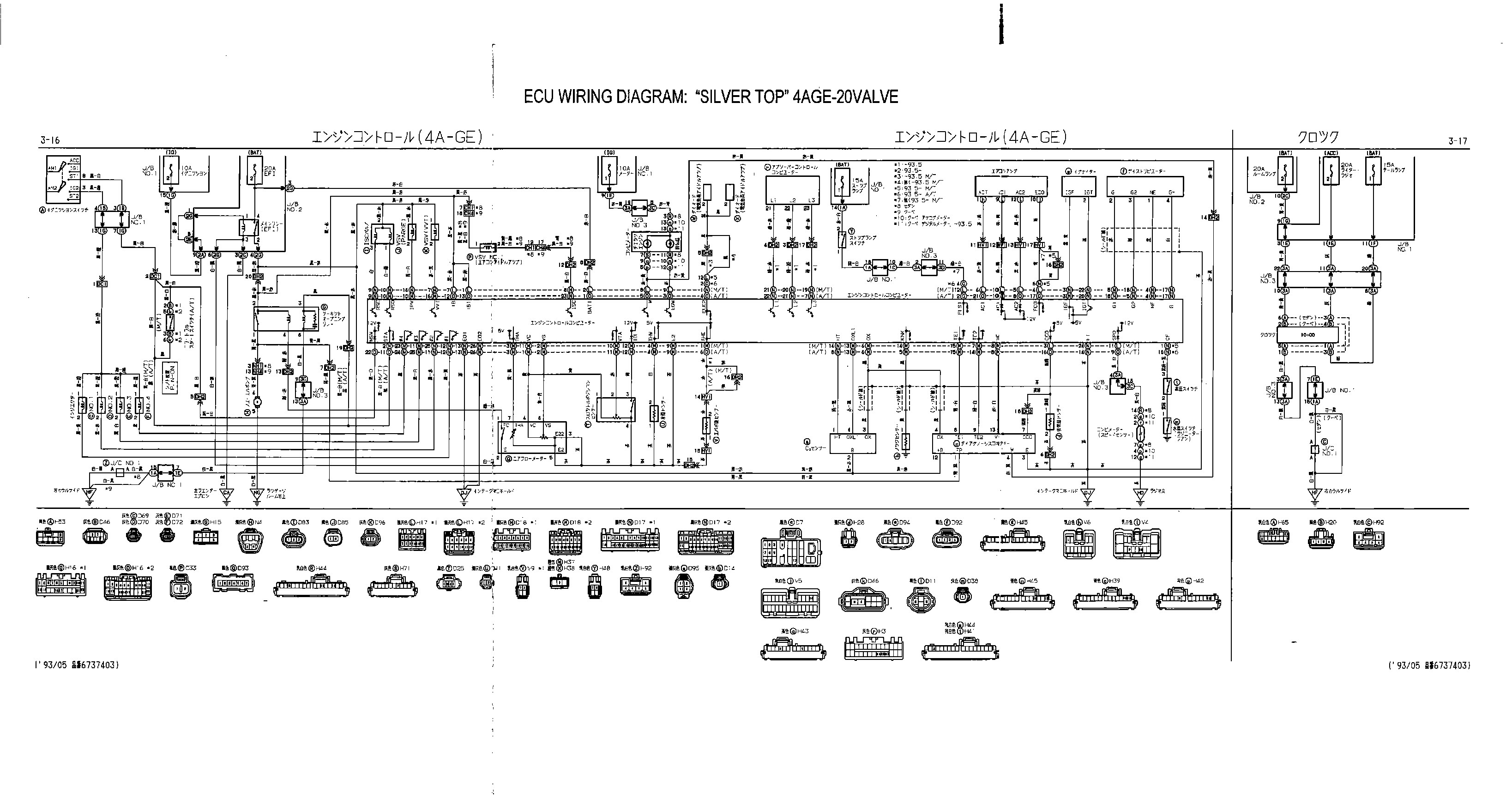 toyota ae111 wiring diagram what are data flow 4age 20v blacktop ecu 36
