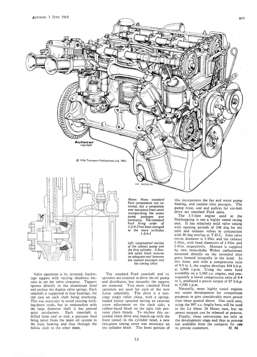 medium resolution of the old anglia was treated to a new 1500cc 5 bearing engine and in july