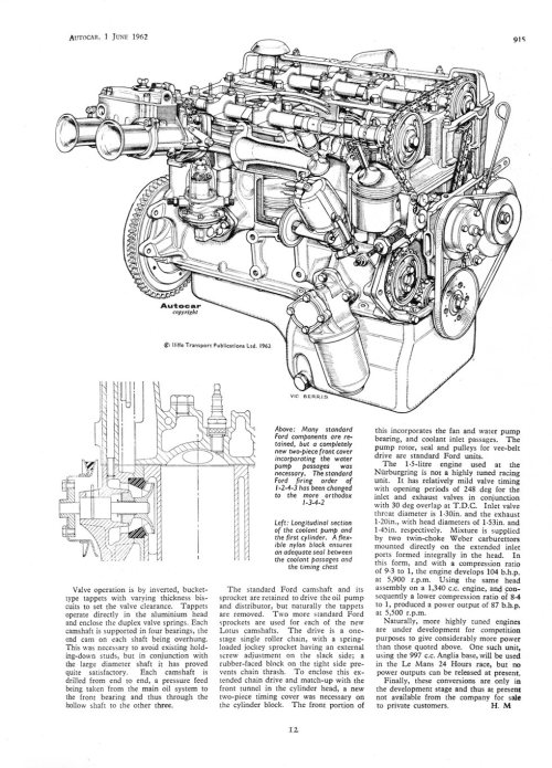 small resolution of the old anglia was treated to a new 1500cc 5 bearing engine and in july