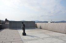 笠間日動美術館屋上から筑波山方面