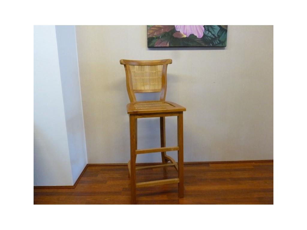 chaise haute teck