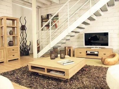 meubles de salon en bois massif chene