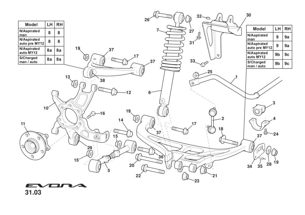 medium resolution of rear suspension incl hubs