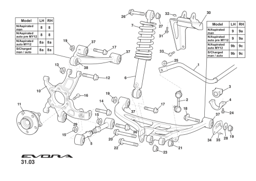 small resolution of rear suspension incl hubs