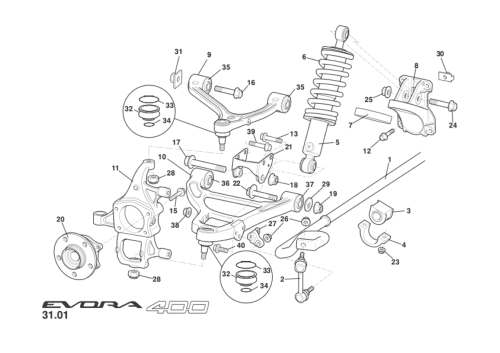 small resolution of front suspension incl hubs