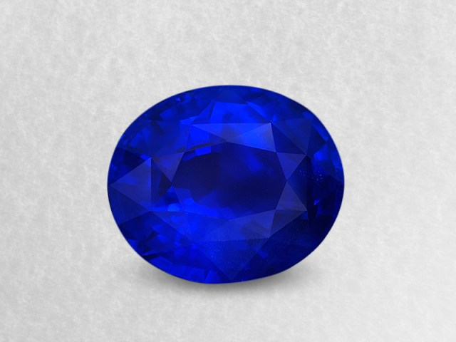 21.42 carats of Burmese true-blue mystery. This stone is an example of Mogok's finest product.