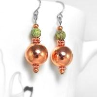 Earrings - Copper & Russian Serpentine
