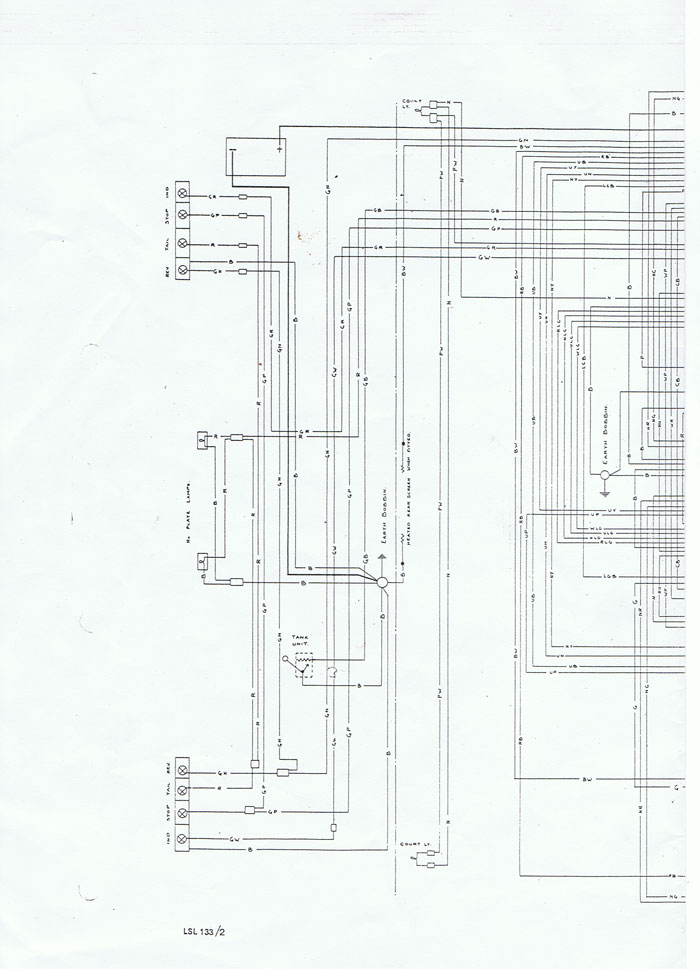Wiring diagram for Lotus Elan Series 4