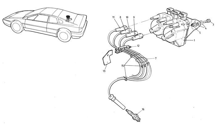 Esprit 93 onwards ignition system parts