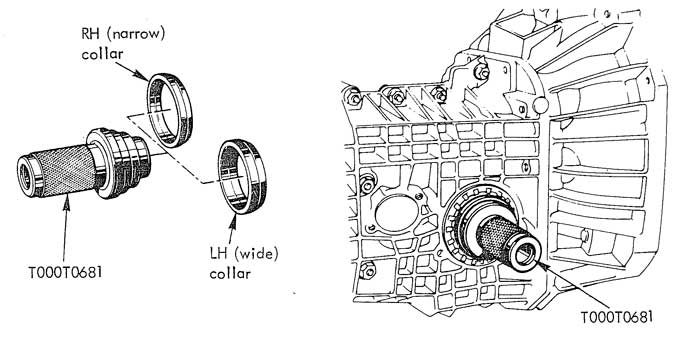 Lotus Esprit gearbox output shaft seals replacement procedure