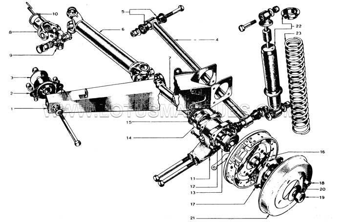 Lotus Europa S1, S2 rear suspension