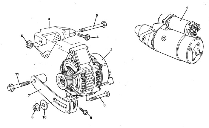 Lotus Elise S1 starter motor and alternator