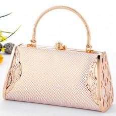 กระเป๋าถือออกงาน ทรงแข็งแฟชั่นเกาหลีหรูหราใหม่ นำเข้า สีเบจ - พรีออเดอร์AP2537 ราคา850บาท