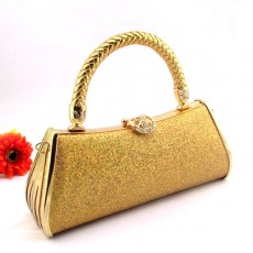 กระเป๋าคลัชออกงาน แฟชั่นเกาหลีหรูหราเข้าชุดราตรีสีสวย นำเข้า สีทอง - พรีออเดอร์AP2541 ราคา900บาท