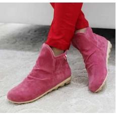 รองเท้าผ้าใบ Sneakers หุ้มข้อแฟชั่นเกาหลี นำเข้า สีแดง - พรีออเดอร์HS167-1 ราคา1250บาท