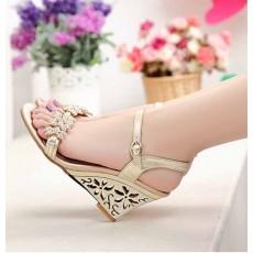 รองเท้าออกงาน สวยคู่ชุดราตรีแต่งงานส้นเตารีดสีทองหรูหราแฟชั่นเกาหลี นำเข้า ไซส์34ถึง39 - พรีออเดอร์HS186-7 ราคา2300บาท
