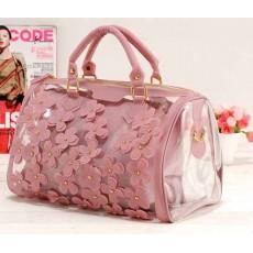 กระเป๋าถือ แฟชั่นเกาหลี แบบใสผู้หญิงสวยแต่งดอกไม้สไตล์ใหม่ นำเข้า สีชมพู - พร้อมส่งIS152 ราคา870บาท