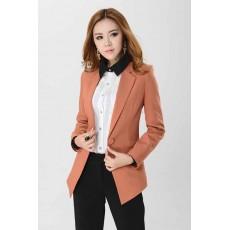 เสื้อสูท แฟชั่นเกาหลีตัวยาวดีไซน์สวยทันสมัย นำเข้าไซส์Sถึง3XL สีน้ำตาล - พรีออเดอร์MS4030 ราคา1600บาท