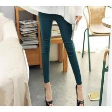 กางเกงเลคกิ้ง แฟชั่นเกาหลีเอวสูงสวยใส่สบายมีกระเป๋า นำเข้า สีเขียวเข้ม - พร้อมส่งTJ7146 ราคา670บาท