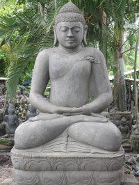 """Large Meditating Garden Buddha Statue 90"""" (#56ls46): Hindu ..."""