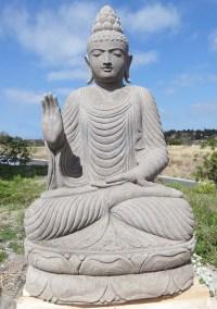 """Large Stone Abhaya Garden Buddha Statue 58"""" (#88ls217 ..."""