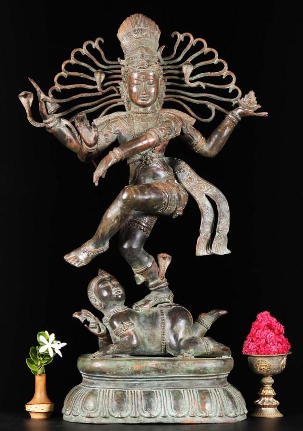 """Bali Brass Nataraja Statue 29"""" #81bb32a Hindu Gods"""