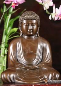 Bronze Japanese Style Meditating Buddha Statue 9