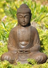 """Meditating Garden Buddha Statue 12"""" (#72vc43z): Hindu Gods"""