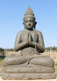 SOLD Stone Large Namaste Buddha Garden Statue 48 ...